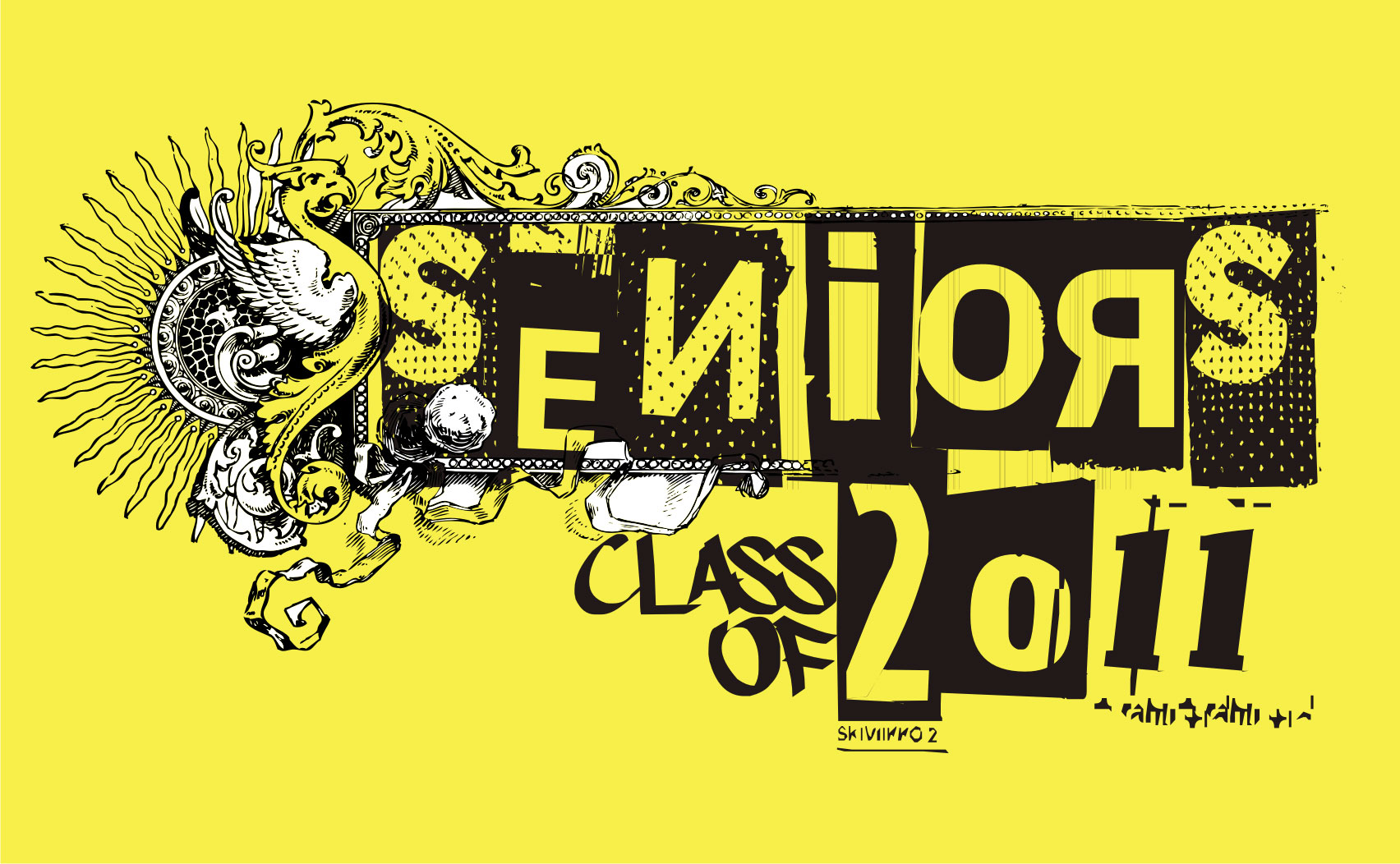 New Senior Shirt Design:  Architectural, Ornate, Vintage