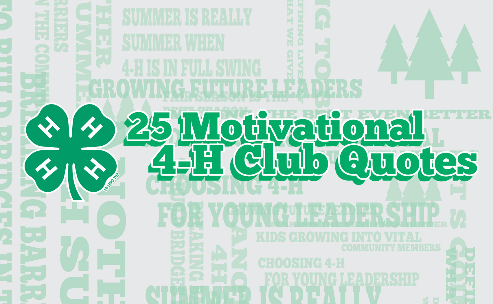 Inspirational Slogans Iza Design Blog25 Motivational 4H Club Quotes And Sayings